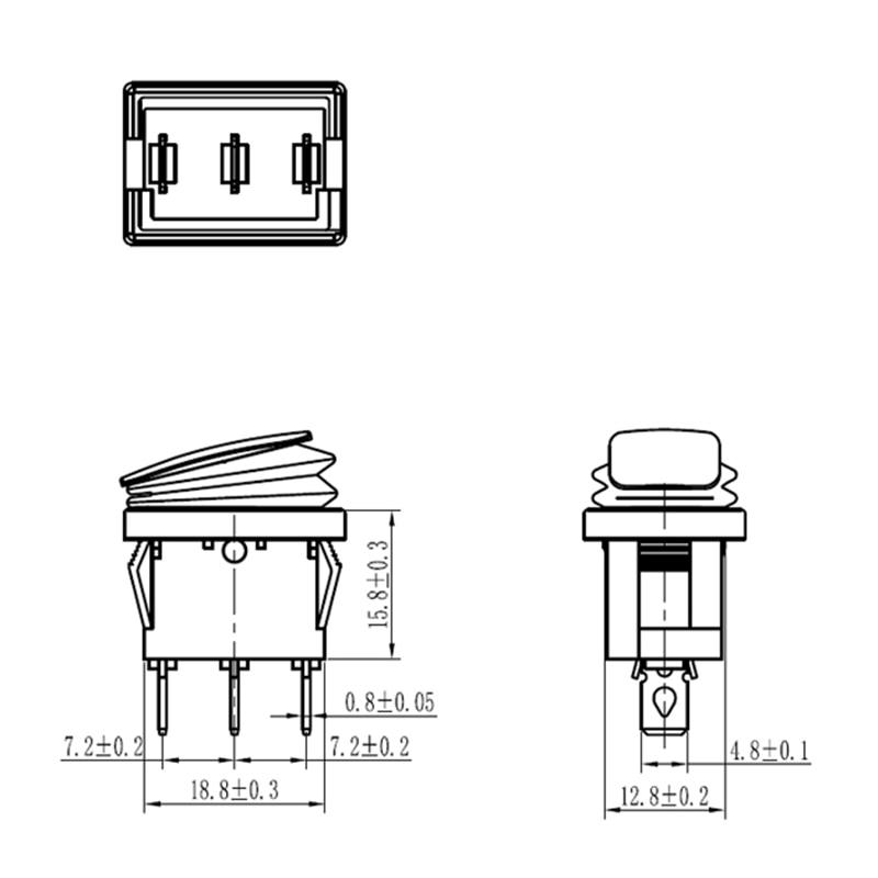 Водонепроницаемый 3-контактный тумблер KCD1, 12 В, 220 В, 30 А, фиксирующий 4-контактный ВКЛ./ВЫКЛ., аварийный морской тумблер