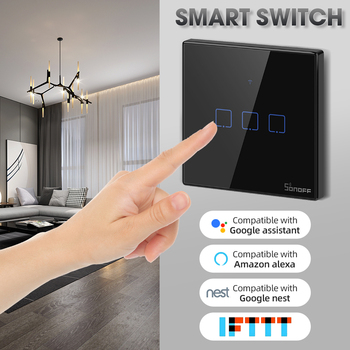 WiFi Smart Wall Touch Light Switch Remote Work with Alexa Google Home Touch Switch for Led Lamp Timer Voice Control Wall Switch
