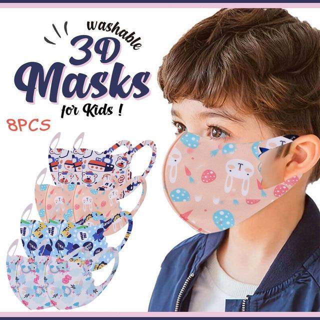 1Pcs Children Kids Girls Washable Adjustable Cartoon Mask Cover Outdoor Desechables veilScarf Flag Bandana Drop-shipping#3 1