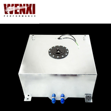 60L Aluminium Fuel Surge Tank With Sensor Fuel Cell 60L With Cap Foam Inside WX-TK41