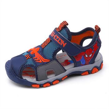 Dziecięce sandały sportowe spiderman letnie nowe sandały plażowe dla chłopców i dziewcząt siatkowe sportowe miękkie dno antypoślizgowe buty tanie i dobre opinie CYBF RUBBER W wieku 0-6m 7-12m 13-24m 25-36m 3-6y Cztery pory roku Unisex Miękka skóra Płaskie Obcasy Hook loop Pasuje prawda na wymiar weź swój normalny rozmiar