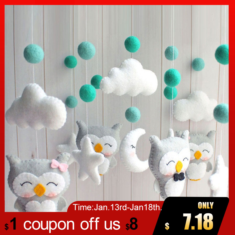 Baby Rattles Kids Toys Sewing Bed Bell Bracket Newborn Crib Bed Bell Mobile To Bed Music Mobile Rattles Baby Toys For Newborns