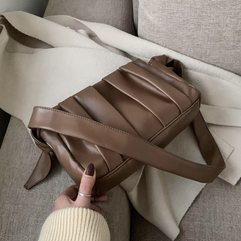 2020 Fold Cloud Totes Bags For Women Underarm Bag PU Leather Womens Handbags Evening Clutch Purses Lady Dumplings Handbags New