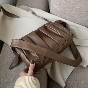 Image 1 - 2020 Fold Cloud Totes Bags for Women Underarm Bag PU Leather Womens Handbags Evening Clutch Purses Lady Dumplings Handbags New