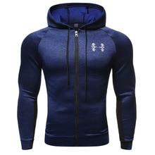 Спортивная куртка с капюшоном для фитнеса, Мужская быстросохнущая куртка для бега на молнии, толстовка с капюшоном, спортивные куртки с капюшоном, тренировочная одежда