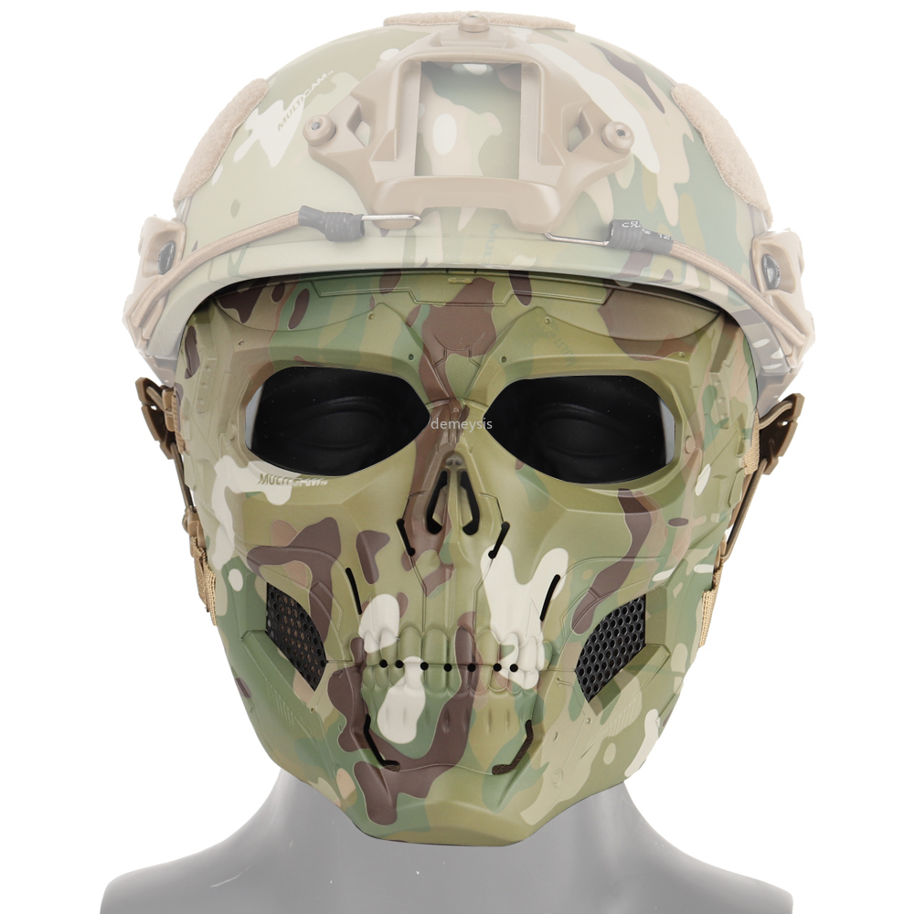 Camouflage Tactical Ghost Masks Outdoor Hunting Military CS Masks Wargame Paintball Airsoft Skull Full Face Mask