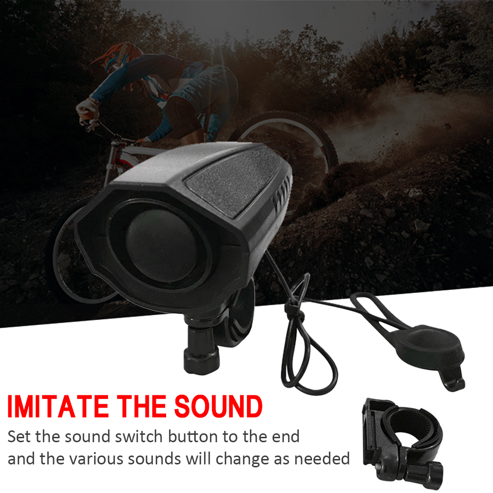 Image 3 - 123dB Electric Horn Loud Bike Bell Cycling Bicycle Handlebar Ring Bells Electric bisiklet horn Siren Alarm Riding Safety Bell-in Bicycle Bell from Sports & Entertainment