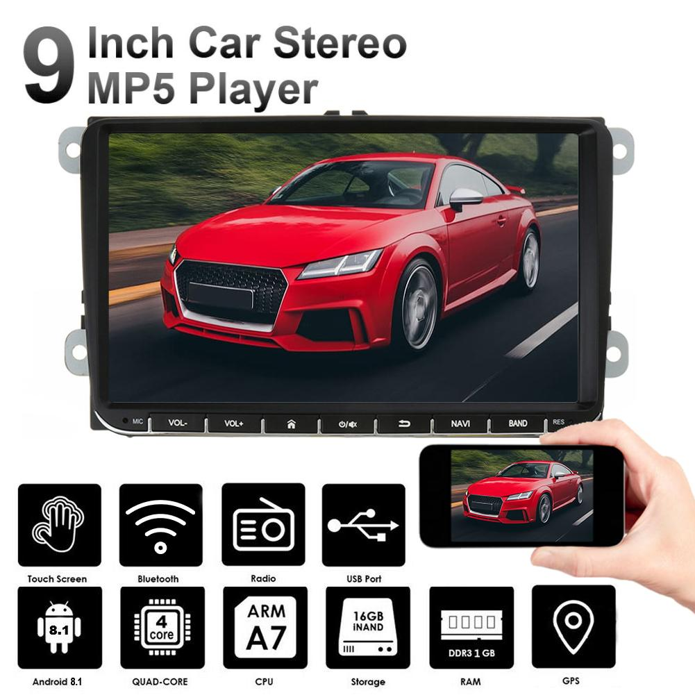 9 INCH Android 8.1 <font><b>Car</b></font> Multimedia <font><b>DVD</b></font> Player Support WIFI <font><b>Car</b></font> <font><b>GPS</b></font> Navigation For Passat Navigation Built-in Bluetooth FM Radio image