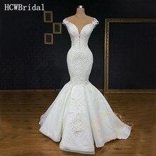 Роскошное свадебное платье Русалка Дубая 2019 изысканные платья в пол без рукавов просвечивающие арабские Свадебные платья на заказ