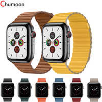 strap for apple watch band 44 mm 40mm Genuine Leather loop correa apple watch 5 4 3 2 iWatch band 42mm 38 mm bracelet watchband
