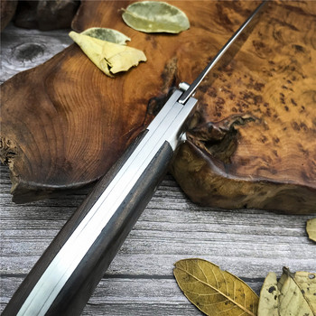 Russia Souvenirs Folding Blade Outdoor Knife 440C Steel Wood Handle Self-defense Survival Tool Tactical Hunting Fishing Knife 3