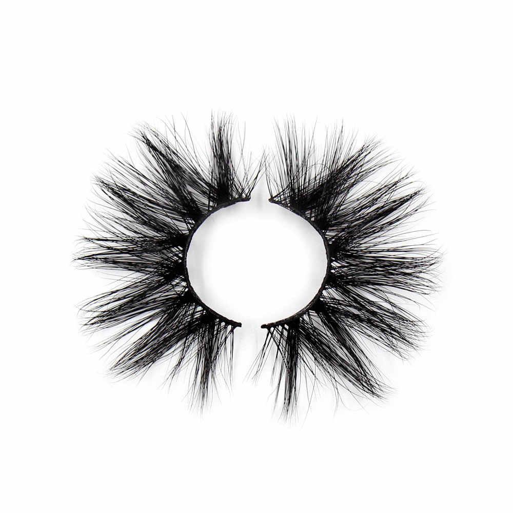 LEHUAMAO 25mm Wimpern 3D Nerz Falsche Wimpern Licht Flauschige Niedliche Wimpern Flirty Wimpern Wiederholte Verwendung Wimpern Dramatische Make-Up G09