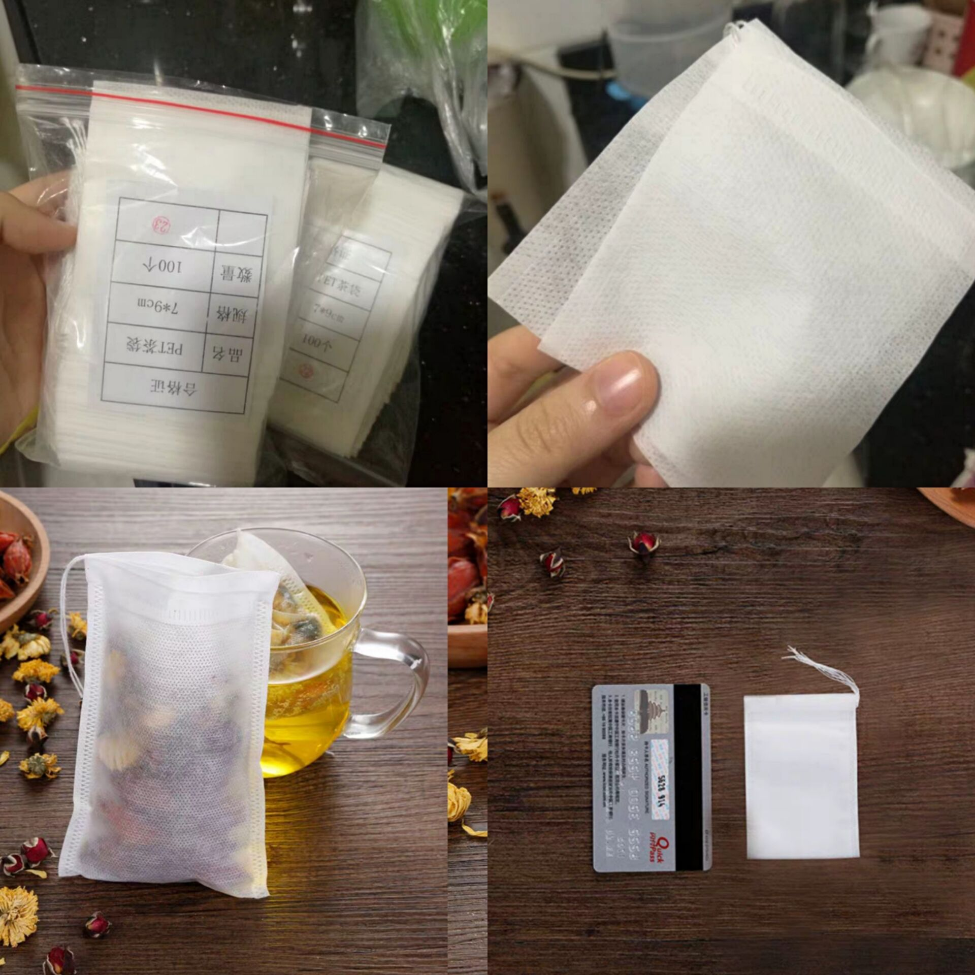 SHXING 100 Pcs Tea Bags Bags For Tea Bag Infuser With String Heal Seal 5.5 X 7CM Sachet Filter Paper Teabags Empty Tea Bags