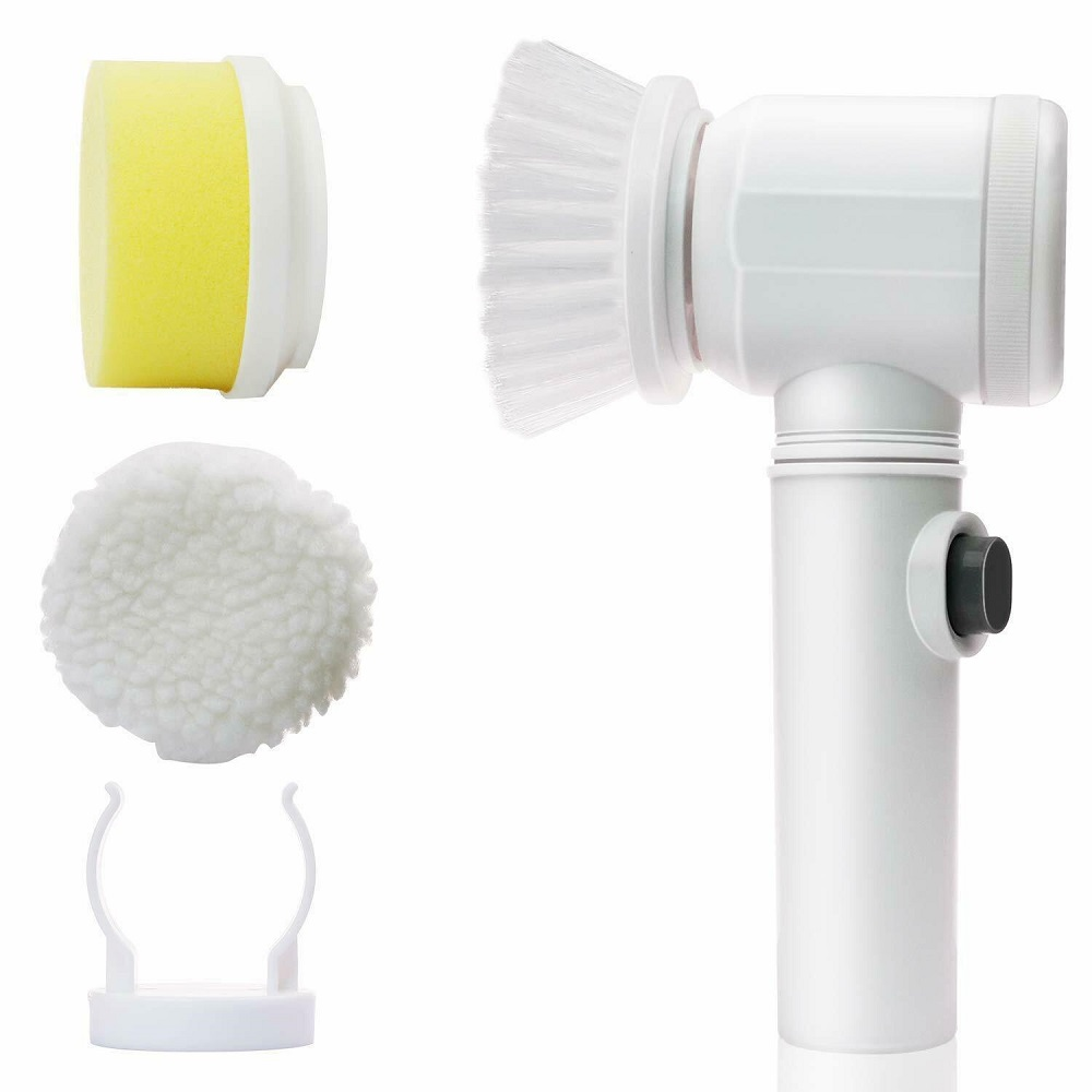5in1 Handheld Electric Cleaning Brush For Bathroom Toile And Tub Brush Rags Kitchen Washing Brush Home Cleaning Tools Dropship