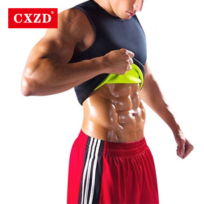 CXZD Mens Body Shaper Vest Slimming Sweat Tummy Fat Burner Tank Top For Weight Loss