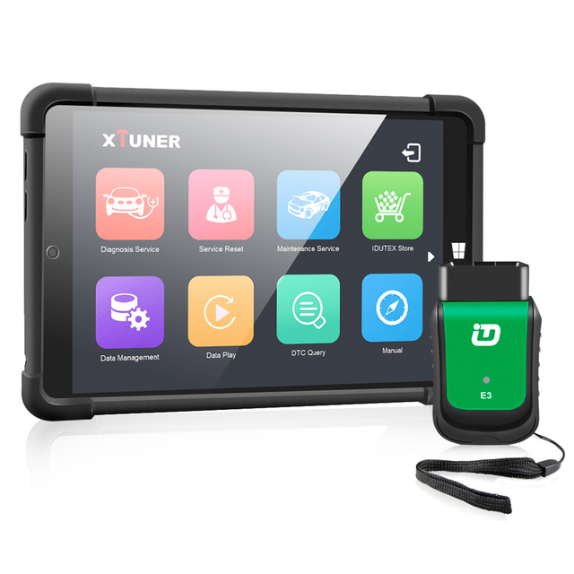 "2021 OBD 2 XTUNER E3 V9.5 Tablet Wifi OBD2 Car Diagnostics Auto Scanner + 8"" Win10 System Automotive Scanner ODB2 Autoscanner"