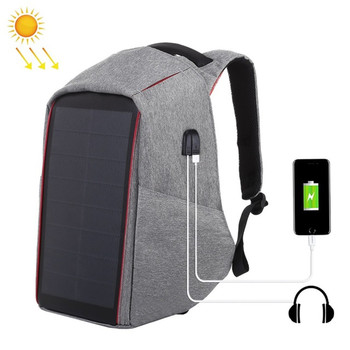 Brand Men's Backpack 12W Solar Backpack USB Charging Theft Protection 15.6 '' Laptop Backpack For Men Laptop Backpack Bag 1