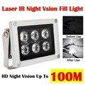 Инфракрасный светильник ночного видения, 100 м, 6 светодиосветодиодный