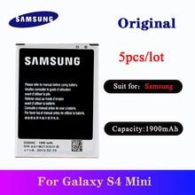 5pcs/lot Samsung S4 Mini Original Battery B500AE 1900mAh For Galaxy S4 Mini I9190 I9192 I9195 I9198 phone replacement batteria ночник oem 1 jl jj0067 s4 50 0067jj s4