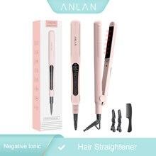 Anlan Профессиональный инфракрасный выпрямитель для волос отрицательный