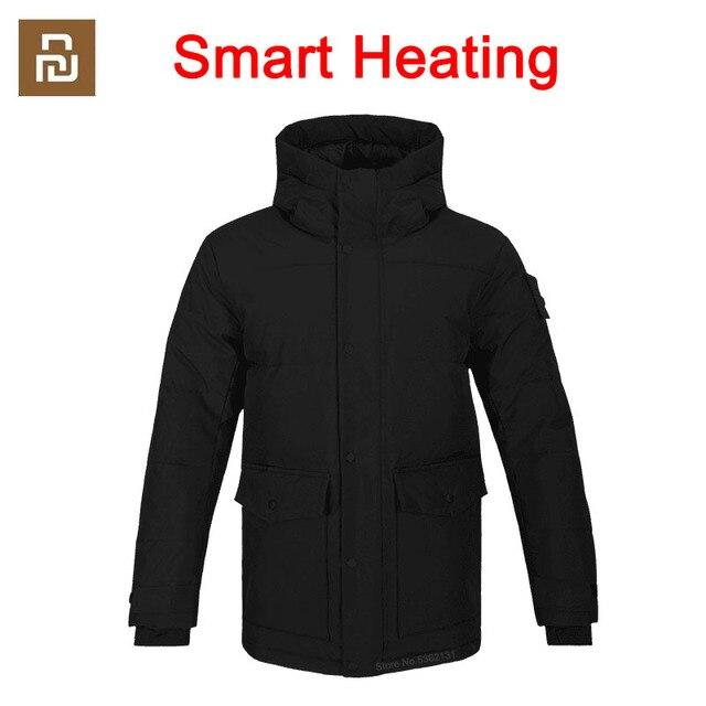 Youpin גרפן אינטליגנטי בקרת טמפרטורת חימום כותנה בגדים USB חשמלי מחומם מעיל גברים חורף חם תרמית מעיל