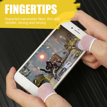 1 Pair Breathable Game Controller Finger Cover Hot Sale Finger Sleeves Simple Enduring Sweat Proof Gaming Thumb Sleeve image