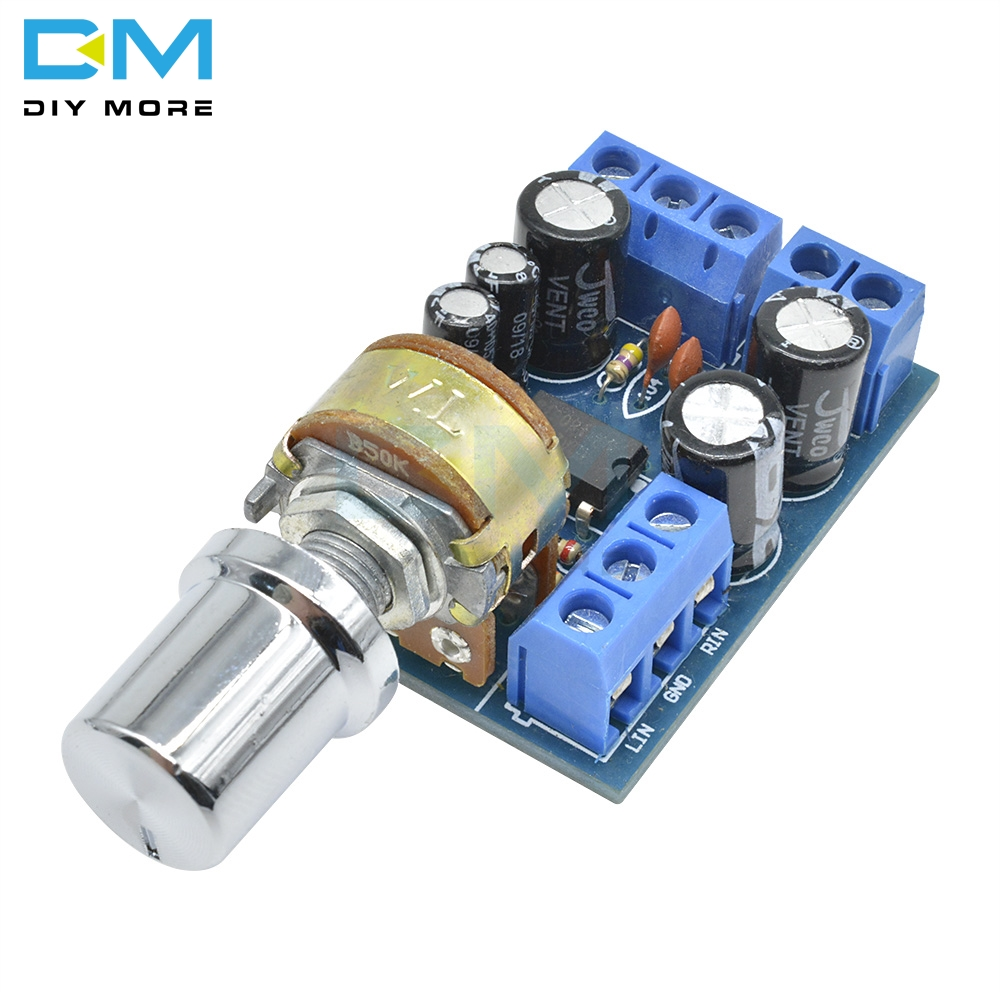 TDA2822 TDA2822M Mini 2.0 Channel 2*1W Stereo Audio Power <font><b>Amplifier</b></font> Board DC <font><b>5V</b></font> 12V CAR Volume Control Potentiometer <font><b>Module</b></font> image