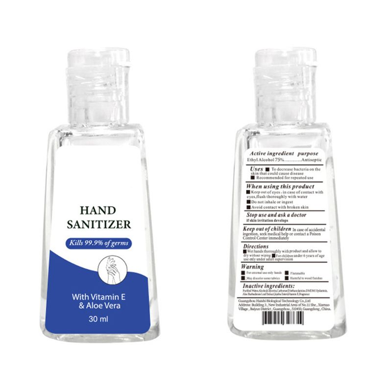 30ml Portable Hand Gel Hand Sanitizer Anti-Bacteria Moisturizing Fruit-Scented 99% Bacteriostatic