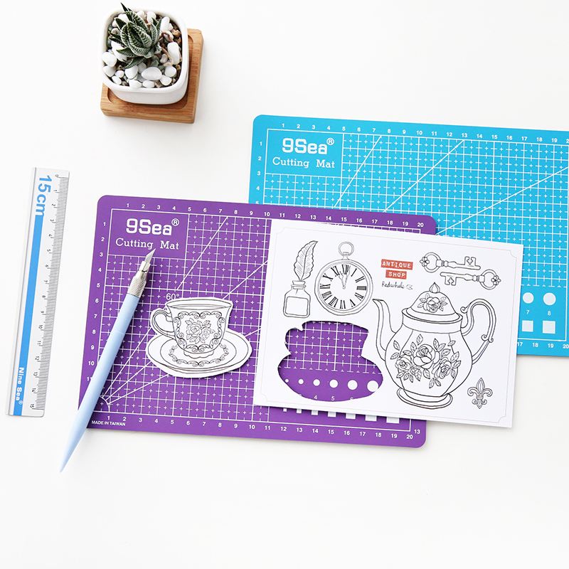 JIANWU 1pc Hand Cutting Board Burin Set Cutting Pad DIY Rubber Stamp Multipurpose Engraving Edition Paper Cutting Rail