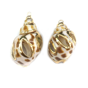 3 In Natural Shell Pendant Fritillaria Orientalis Making Necklaces Bracelets And Earrings For DIY 15x20-15x25mm Package Sale image