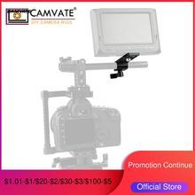 Plaque à fromage dextension CAMVATE avec pince à tige simple Standard de 15mm pour montage sur moniteur microphone