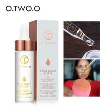 O. tw o.o 24k óleo essencial de grau rosa, óleo de maquiagem para rosto, ouro, elixir, hidratante base óleo anti-envelhecimento