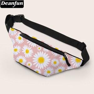 Deanfun розовая поясная сумка, женская маленькая сумка с принтом маргаритки, сумка через плечо, сумка для ожидания, Подарочная 18021