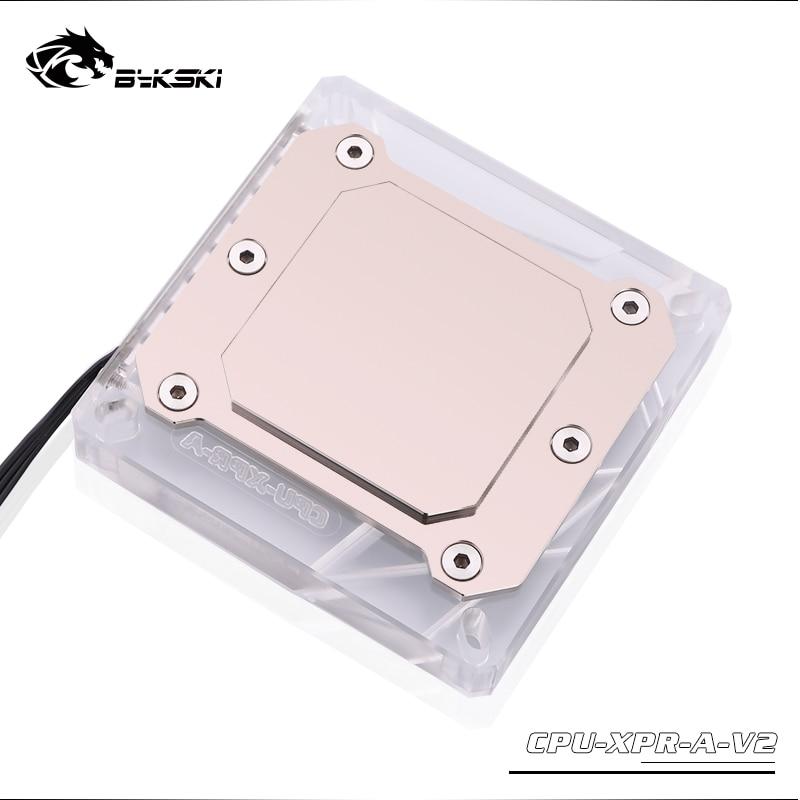 Купить с кэшбэком Bykski CPU Water Cooling Radiator Block use for INTEL LGA1150 1151 1155 1156 2011 X99 Transparent with RGB Liquid Cooling System