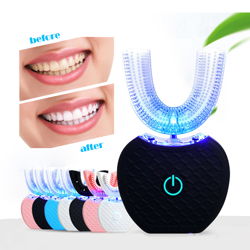360 Electric Sonic Toothbrush Kit With LED Blu-Ray Teeth Whitening IPX7 Waterproof Portable Tooth Brush Free Hands image