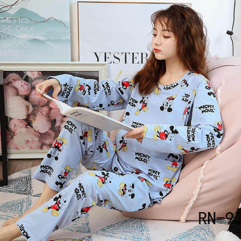 18 Style Autumn Long Sleeve Maternity Casual Pajamas Women Nursing Pyjama Cartoon Pregnant Mother Winter Sets Pregnancy Clothing