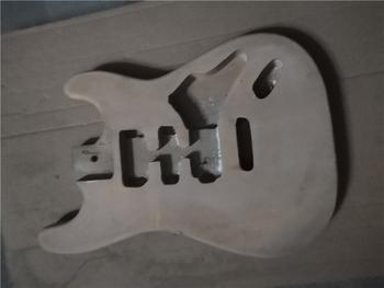Afanti muzyka DIY gitara zestaw DIY gitara elektryczna ciała (MW-3-545) tanie i dobre opinie none not sure Nauka w domu Do profesjonalnych wykonań Beginner Unisex CN (pochodzenie) Drewno z Brazylii Electric guitar