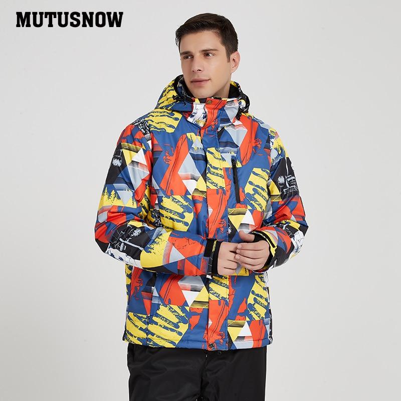 Ski Jackets Brands 2019 New Outdoor Sports Men's Windproof Waterproof Breathable Warm Hooded Coat Winter Male Snowboard Jacket