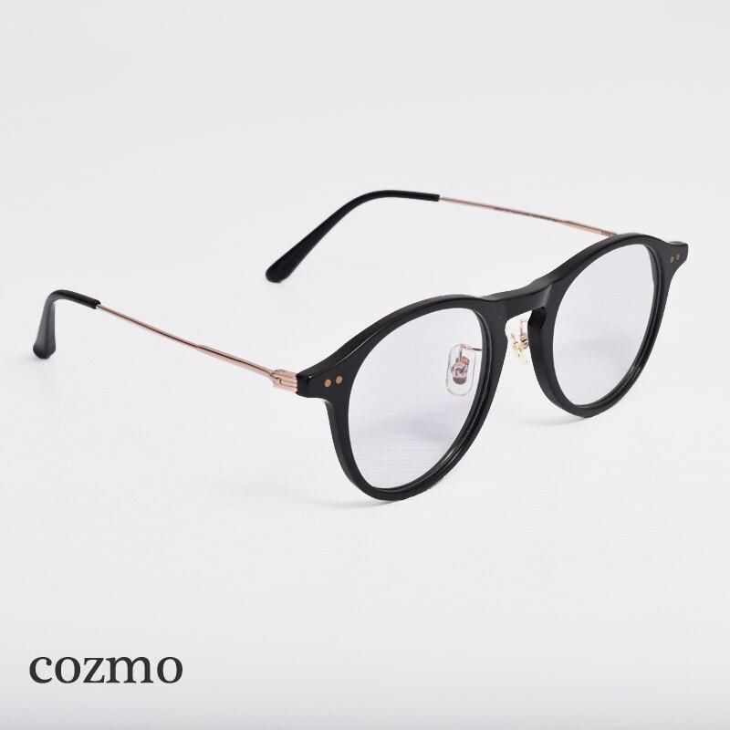 Корейский фирменный дизайн, нежная оправа для глаз COZMO, оправа из ацетата, круглая оправа для женщин и мужчин, компьютерное стекло для чтения...
