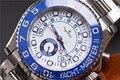 Роскошные часы Мужские автоматические механические синие керамические Безель из нержавеющей стали GMT часы сапфировые наручные часы из роз...