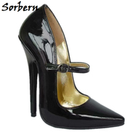 Sorbern Mary Janes Women Pumps High Heel Shoe Stilettos Office Lady Dress Shoe Women Heels 2019 Black Pumps Size 12 Heels