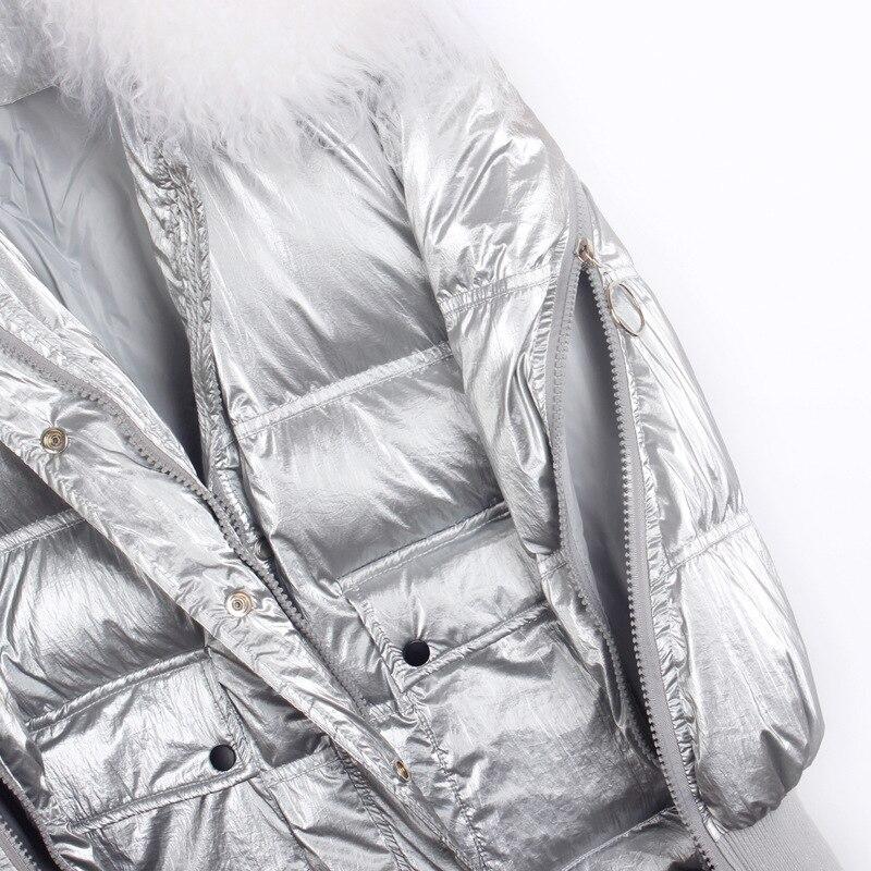 Fur Collar Women's Down Jacket Winter Coat Female Jacket Women Clothes 2020 Korean Vintage Parka White Duck Down Tops ZT3965