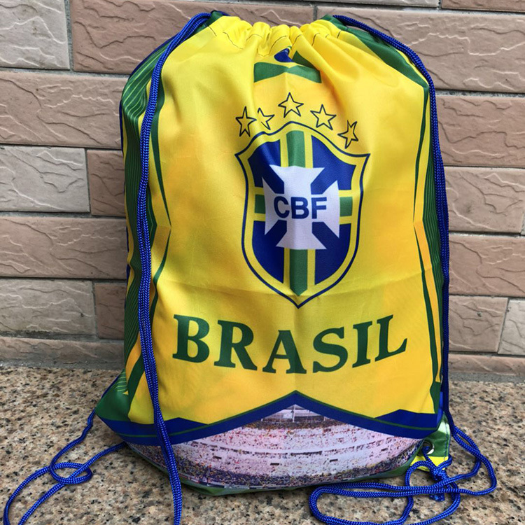 Liverpool Manchester United Chelsea Barcelona Real Madrid Football Club Fans Drawstring Bags Printing Messi Ronaldo Soccer Bags