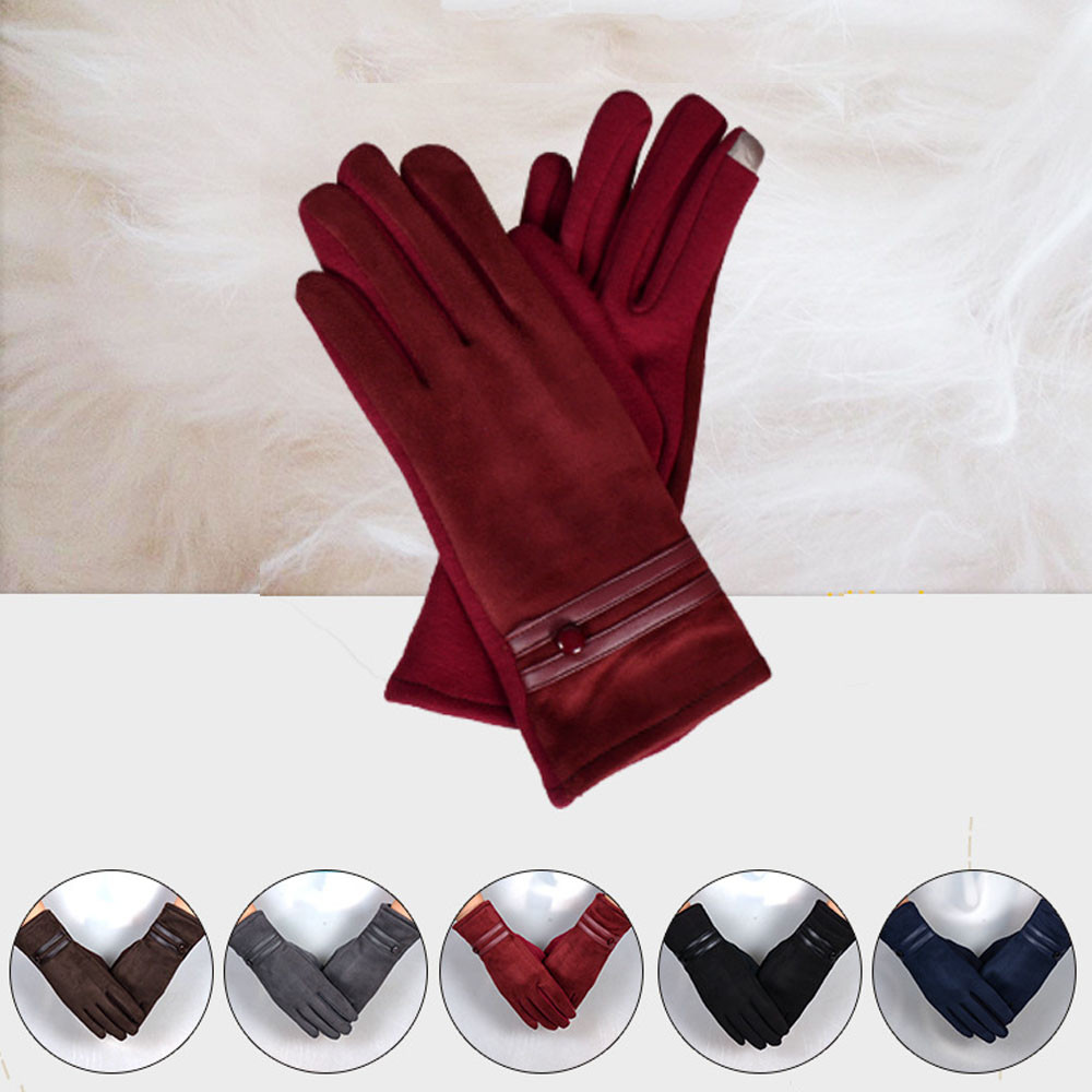 Sleeper #P501 2019 Fashion Women Glove Winter Warm Wrist Gloves Mittens Luvas перчатки Full Finger Solid Color Casual Outdoor