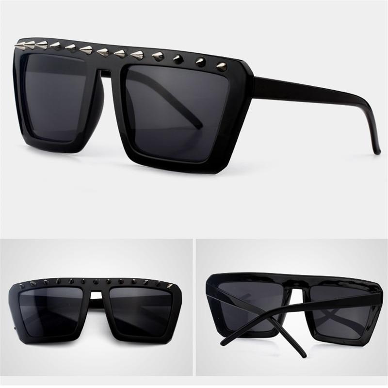 Vazrobe Steampunk Glasses Women Men Spikes Sunglasses Black Rivet Vintage Eyewear Punk Hip Hop Party Novelty Gothic Fashion