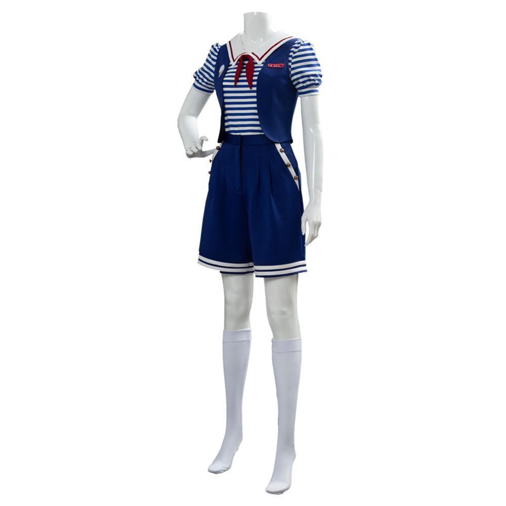 Stranger Things 3 Scoops Ahoy Robin Cosplay Costume Dress Steve Harrington Adult Uniform Working Sailor Suit Halloween Carnival 2