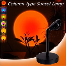 USB Sunset Lamp Rainbow Light Led Night Light Sunset Red Projection Desk Floor Lamp for Bedroom Bar Coffee Store Wall Decoration