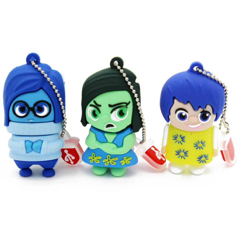Cartoon Lovely Boy Baby Kid Shape USB Memory Flash Drive 2GB 4GB 8GB 16GB 32GB Thumb Stick Cartoon Pendrive Flash Disk U Disk
