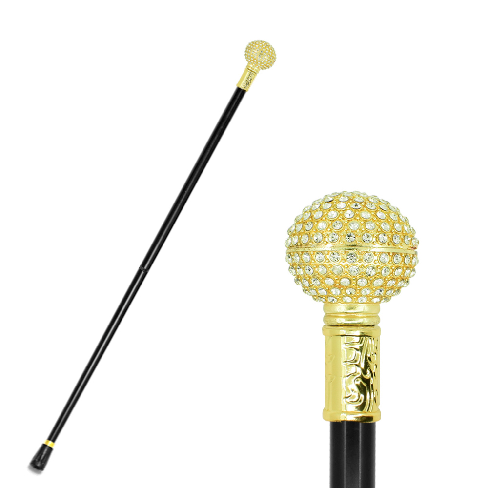 Fashion Walking Cane Stick Gold Women Lady Beauty Queen Cane Monarchess Diamond Golden Crutch Scepter Canes Crutch For Women
