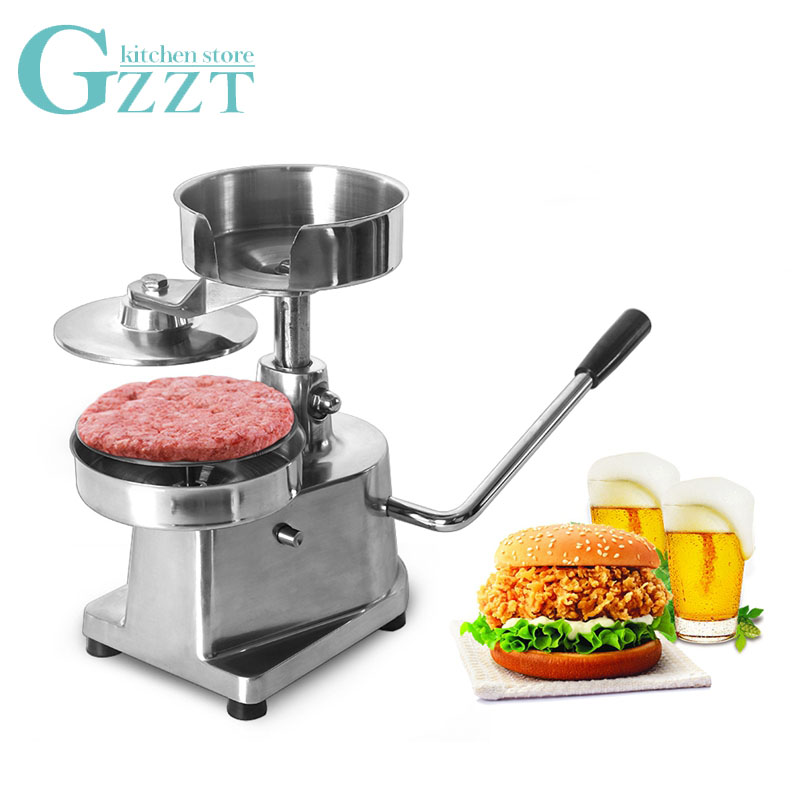GZZT AM15 Manual Burger Patty Meat Press Machine Kitchen Hamburger Press Maker 150MM  Greaseproof Hamburger|Manual Burger Press Machines| |  - title=